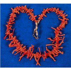 Vintage Branch Coral Necklace  (121993)