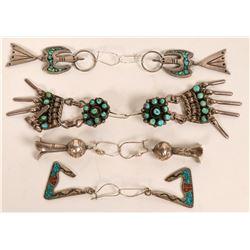 Vintage Navajo and Zuni Earrings  (121191)