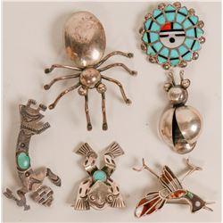 Vintage Navajo and Zuni Pins  (121202)