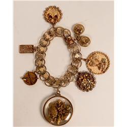 Vintage Gold Charm Bracelet  (121236)
