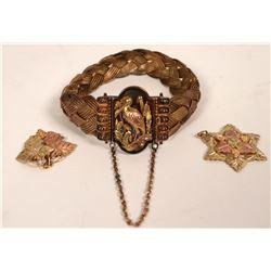 Bracelet, Black Hills Gold, and Pendants  (121231)