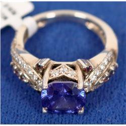 Beautiful Sterling Silver & Purple Stone Ring  (121570)