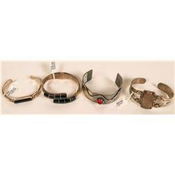 Sterling Silver & Stone Bracelets (4)  (121500)