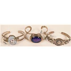 Sterling Silver Bracelets (3)  (121512)