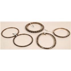 Sterling Silver Bracelets (5)  (121517)