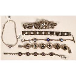 Sterling Silver Bracelets (6)  (121515)