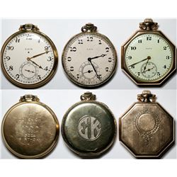 A Trio of Elgin Pendant Watches  (121296)