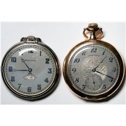 A Duo of Hamilton Pocket Watches  (121291)