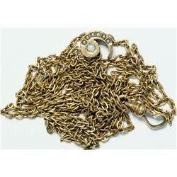Gold watch chain with precious opals  (109011)