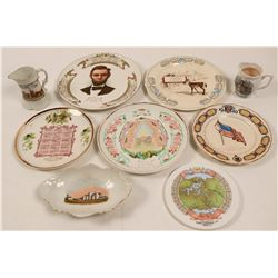 Illinois Souvenir Calendar Plate Collection,  (9)  (112690)