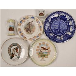 Indiana Souvenir Advertising and Calendar Plates (6)  (112617)