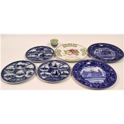 Maine Souvenir Advertising and Calendar Plates (7)  (112750)