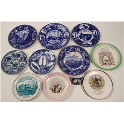 Massachusetts Souvenir Calendar Plate Collection,  (11)  (112692)