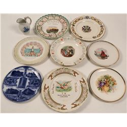 Nebraska Souvenir Calendar Plate Collection,  (9)  (112693)