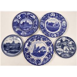 Pennsylvania Blue Souvenir Advertising and Calendar Plates (5)  (112619)