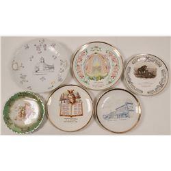 Santa Barbara Area Calendar & Souvenir Plates (6)  (112666)