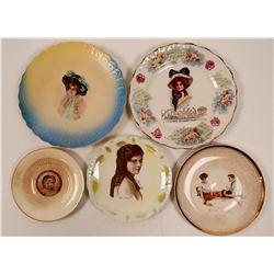Souvenir Advertising and Calendar Plates (5)  (112606)