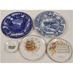 Various Souvenir Advertising and Calendar Plates (5)  (112616)