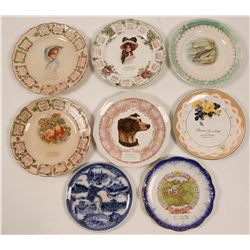 Wisconsin & Michigan Souvenir Calendar Plate Collection,  (8)  (112694)