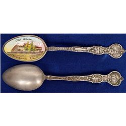 Old Adobe Ranch Enameled Sterling Silver Spoon  (121565)