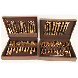Gold Plated Flatware Settings  (121134)