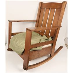 19th Century Mission Style Rocking Chair  (120633)