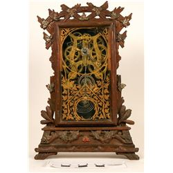 Clock - Seth Thomas Tabletop Clock in Fancy Hand Carved Wood Case – Antique!  (121681)
