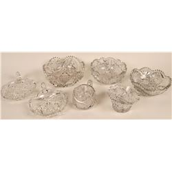 Cut Glass Lead Crystal Collection (7 pieces)  (121542)