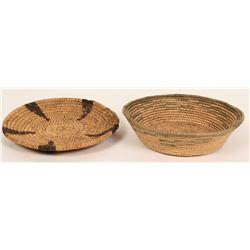 African Raffia Baskets – Vintage! (2)  (120981)