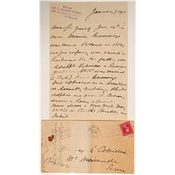 Col. T Alston Brown Signed Letter and Cover  (106481)