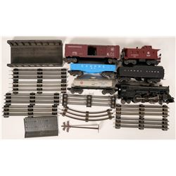 "Model Train Lionel ""O"" Gauge 1940's ""O"" Gauge Steam Locomotive & Rolling Stock  (120854)"