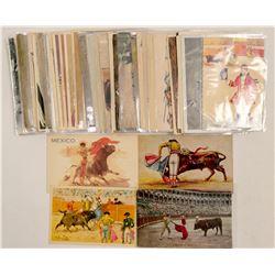 Bull Fighting Post Cards RPC's & Chromolitho's  (102799)