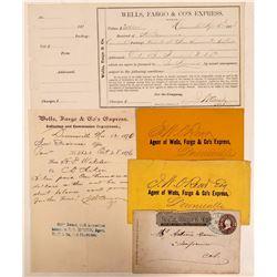 Downieville Wells Fargo Covers & Ephemera  (107831)