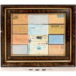 California Gold Rush Mother Lode Items in Beautiful Antique Frames  (120857)