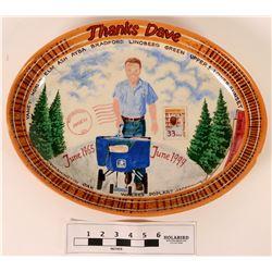 Postal Worker Retirement Ceramic Plate  (121548)