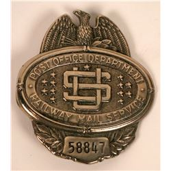 US Post Office Department Railway Mail Service Badge  (113421)