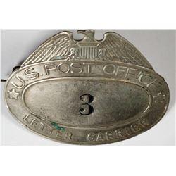 US Postal Carrier Badge  (120904)