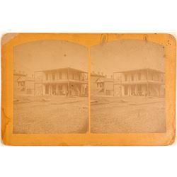Stereoscopic Photograph; Early Gold Rush Photo  (105363)