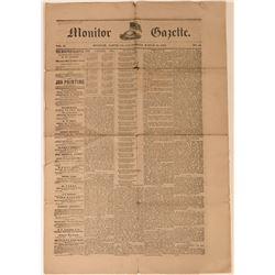 Monitor Gazette Newspaper - Very Rare !  (113571)