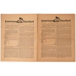 American Standard Newspaper, Anti-Immigrant Publication (2 Different Issues)  (113595)