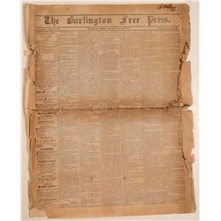 Burlington Free Press 1/9/1852  (108631)