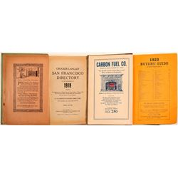 Crocker-Langley San Francisco Directory Set of Two 1919, 1923  (108504)