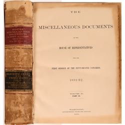 House of Representatives in Congress 1891-1892, Miscellaneous Documents  (120621)