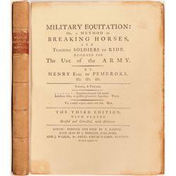 Method of Breaking Horses and Teaching Soldiers to Ride, Henry Earl of Pembroke, 1778  (114299)