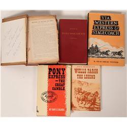 Pony Express 7 Wells Fargo Books  (121129)