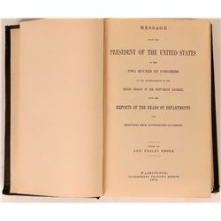 Report to Congress from President Rutherford B. Hayes 1879.  (120613)