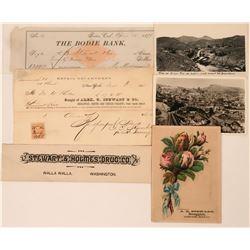 A.B. Stewart Druggist Collection incl. Bodie Check  (113425)