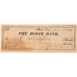 Bodie Bank Check Signed by Druggist O.P. Willis  (113520)
