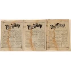 The Wasp Newspapers--Full of Wine & Liquor Ads  (113592)