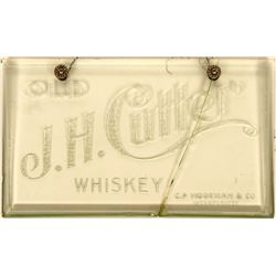 Advertising Sign – Rare J.H. Cutter Whiskey  (120917)